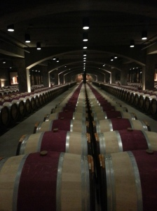 Red barrel storage at Mondavi